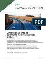 Dimensionamento de pavimento flexível_ exemplo prático - Guia da Engenharia 1