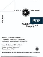 Apollo Experience Report Command and Service Module Controls and Displays Subsystem