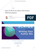 How To Write An Author Bio & Why (With Examples)