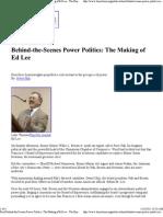 Ed Lee Power Play