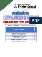 CUADRO DE MERITO 5 TO DECLAMACION