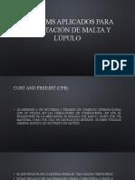 Icoterms aplicados para importación de malta y lúpulo.pptx