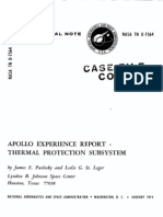 Apollo Experience Report Thermal Protection Subsystem