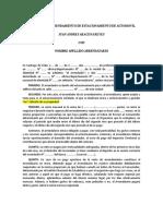 CONTRATO DE ARRENDAMIENTO DE ESTACIONAMIENTO DE AUTOMOVIL