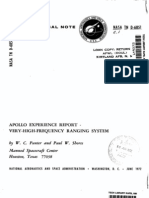 Apollo Experience Report Very High Frequency Ranging System