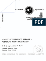 Apollo Experience Report Window Contamination
