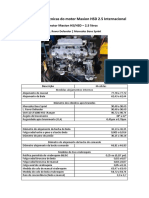 Especificações técnicas do motor Maxion HSD 2.5