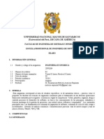 NUEVO SILABUS DE INGENIERIA ECONOMICA 2020 -1 FISI UNMSM