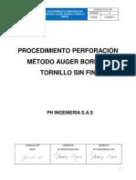 CT-04-PR PROCEDIMIENTO PERFORACION METODO AUGER BORING- TORNILLO SIN FIN.pdf