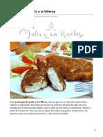 Pechugas de pollo a la Villeroy