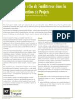 700-12-P497914 Le role de Facilitateur dans la Gestion de Projects