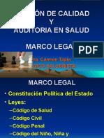 MARCO LEGAL GESTIÓN DE CALIDAD Y AUDITORIA