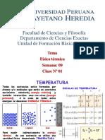 SEMANA - 9 - 2017 - 2 - Física térmica - Energía en los procesos térmicos