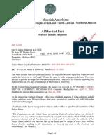 70192970000004896792 Notice of Default Judgment-Carl F. Gards III