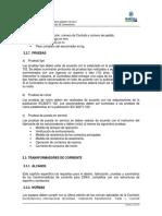 Especificaciones técnicas Transformadores de corriente