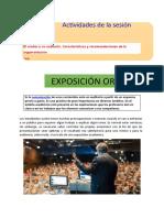 exposicion oral , orador y componentes