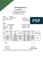 Cylinder   Test  report