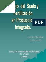 Gestión del manejo del suelo - Producción Integrada