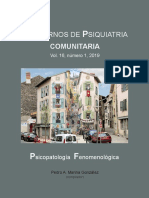 Cuadernos de psiquiatría comunitaria (Vol. 16, N° 1, 2019). Psicopatología fenomenológica