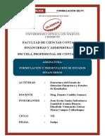 Tarea de formulación y presentación de los EE.FF.