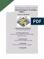 CONTROL DE CALIDAD EN PRODUCTOS SANITARIOS SEMANA 15