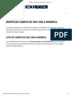 Modificar campos de una tabla dinámica • Excel Total