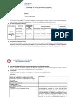 Inf. Evaluación Diagnóstica 3º Azul