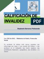CALIFICACIÓN DE INVALIDEZ