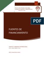 Fuentes de financiamento