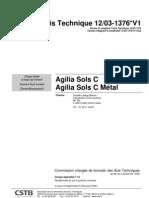 Avis Technique AgiliaSolsC Metal