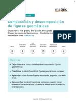 Composición y descomposición de figuras geométricas