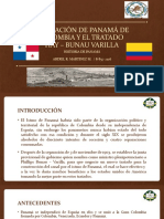 SEPARACIÓN DE PANAMÁ DE COLOMBIA Y EL TRATADO