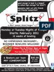Rab's Splitz Coed Mixed League Flyer