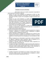 Anexo Nº 21 - Requisitos y acreditacion de personal de salud