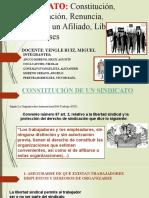 CONSTITUCIÓN DE UN SINDICATO