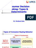 Lecture 8_Consumer Decision_Types & Determinants