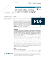 Developing public health ethics learning