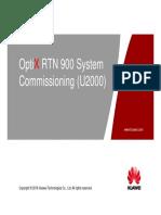 05_OTF302702 OptiX RTN 900 V100R008 System Commissioning (U2000) ISSUE 1.11