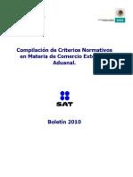 Compilación de Criterios Normativos en Materia de Comercio Exterior 2010