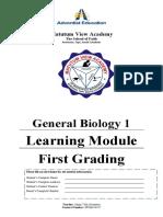 11 STEM General Biology 1 FIRST QUARTER LMs