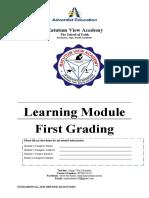 11 STEM Physics FIRST QUARTER LMs