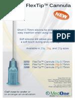 0.75mm FlexTip Cannula flyer