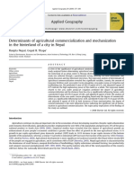 Determinants of agricultural commercialization and mechanization in the hinterland of a city in Nepal