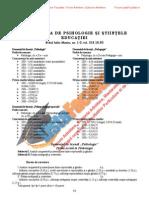 ListaFacultati.ro Subiecte Admitere Universitatea Bucuresti Psihologie 2005