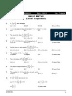 CPP-1 (Basic Maths)