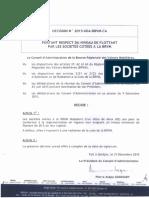 20160212 - Décision 2015-004 BRVM - Niveau de Flottant