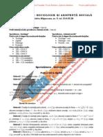 ListaFacultati.ro Subiecte Admitere Universitatea Bucuresti Sociologie 2002