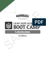 LEAP 2025 Algebra I Boot Camp Sample, 1st Edition