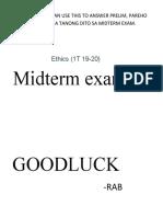 ethics midterm exam