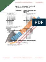 ListaFacultati.ro Subiecte Admitere Universitatea Bucuresti Teologie Baptista 2004